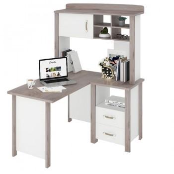 Угловой компьютерный стол СТД-У с надстройкой Bartolo