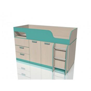 Кровать с поворотным столом НМ 011.55М Рико