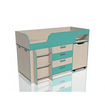 Кровать с выдвижным столом НМ 011.56М Рико
