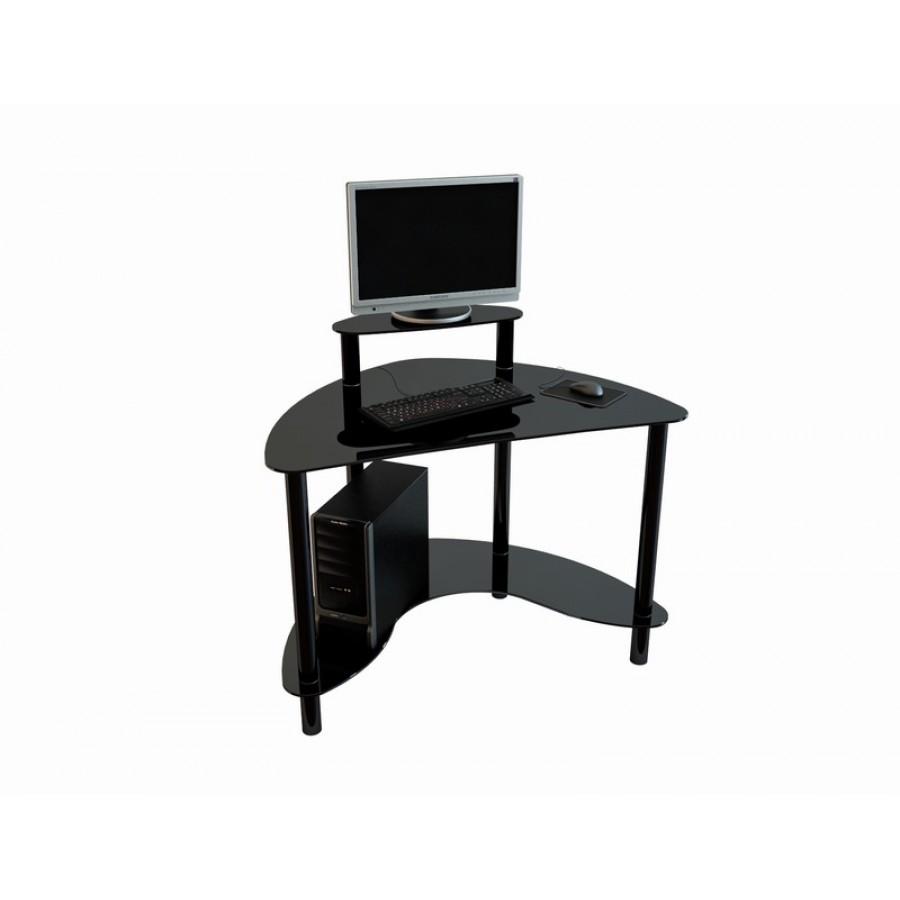 Угловой компьютерный стол Mist-01 черный лак