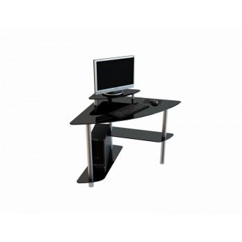 Угловой компьютерный стол Mist-02 анод. алюм