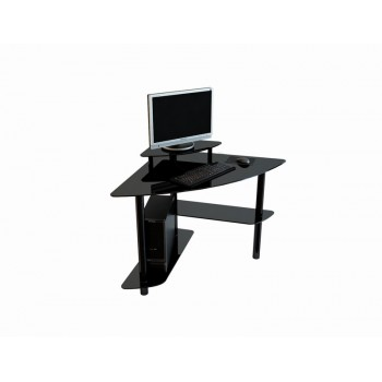 Угловой компьютерный стол Mist-02 черный лак