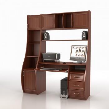 Компьютерный стол КС-1К БЕРКУТ со стеллажом ТРИУМФ СФ-403Д