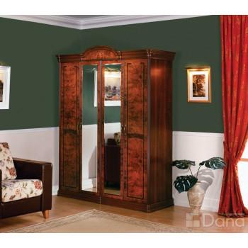 Шкаф 4-х дверный с зеркалами Раис