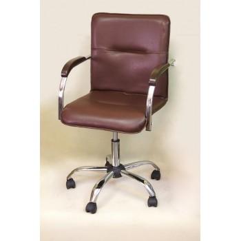 Компьютерное кресло Самба (пятилучье)  коричневое