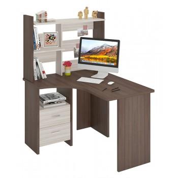 Угловой компьютерный стол СКЛ-УГЛ120+НКЛ-100