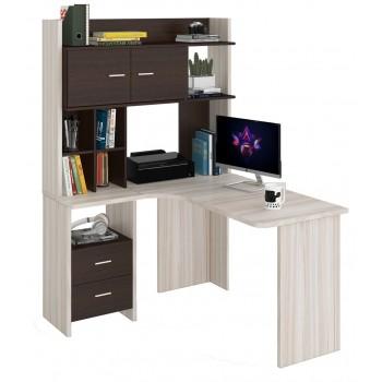 Угловой компьютерный стол СКЛ-УГЛ130+НКЛХ-120