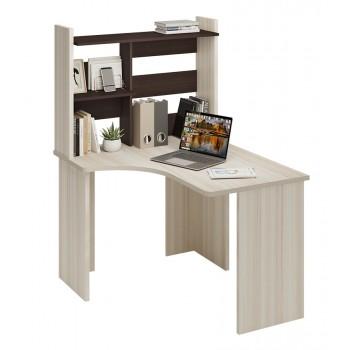 Угловой компьютерный стол СКЛ-УГЛ120+НКЛ-100 без тумбы