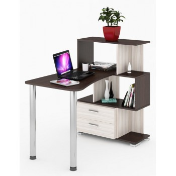 Компьютерный стол СЛ-5-3СТ-2-БЯ
