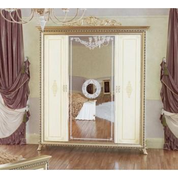 Шкаф платяной Версаль 4-х дверный беж