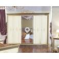 Шкаф платяной Версаль 6-ти дверный беж