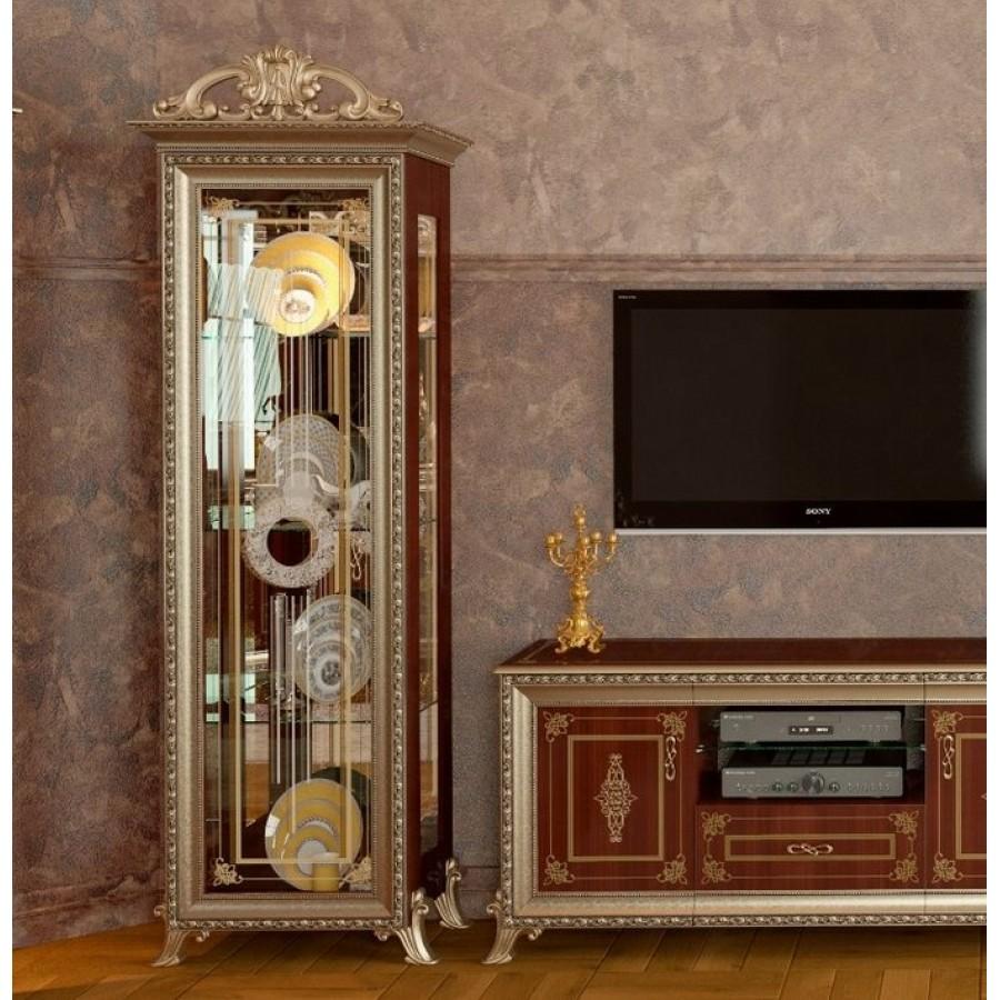 Витрина 1-но дверная Версаль орех