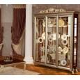 Витрина 3-х дверная Версаль орех