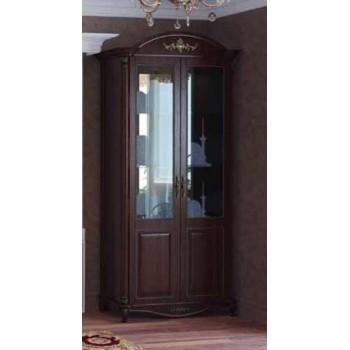 Витрина 2-х дверная Да Винчи орех