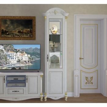 Витрина 1-но дверная Да Винчи белая