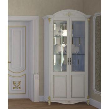 Витрина 2-х дверная Да Винчи белая