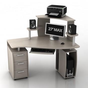 Угловой компьютерный стол КС-14У/КН-1 ИБИС правый