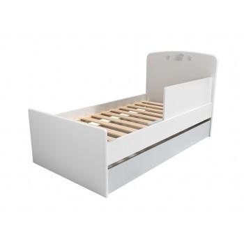 Кровать НМ 041.07 с ящиком и ограничителем Лилу Слоники