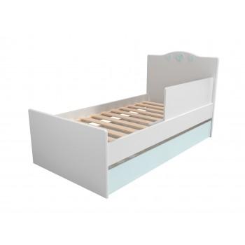 Кровать НМ 041.07 с ящиком и ограничителем Лилу Птички