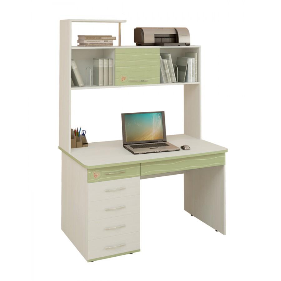 Письменный стол Акварель 53.14 с надстройкой 53.18